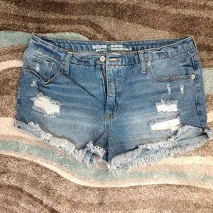 3 for $15 High Rise Distressed Jean Shorts